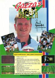 Advert for Gazza's Super Soccer on the Amstrad CPC.