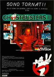 Advert for Ghostbusters 2 on the MSX 2.
