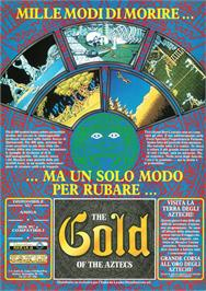 Advert for Gold of the Aztecs on the Commodore Amiga.