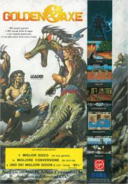Advert for Golden Axe on the Atari ST.