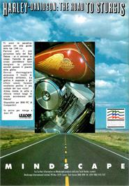 Advert for Harley-Davidson: The Road to Sturgis on the Commodore Amiga.