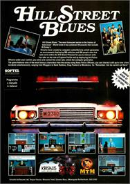 Advert for Hill Street Blues on the Atari ST.