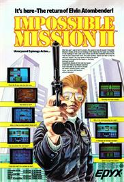 Advert for Impossible Mission 2 on the Commodore Amiga.