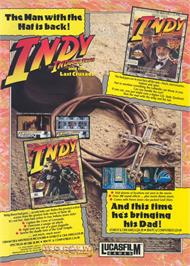 Advert for Indiana Jones and the Last Crusade: The Graphic Adventure on the Commodore Amiga.