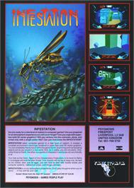 Advert for Infestation on the Sony Playstation.
