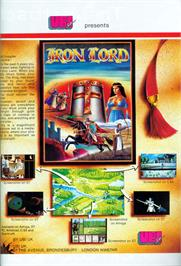 Advert for Iron Lord on the Atari ST.