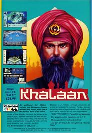 Advert for Khalaan on the Commodore Amiga.