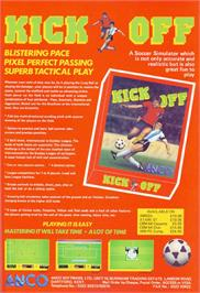Advert for Kick Off on the Commodore Amiga.
