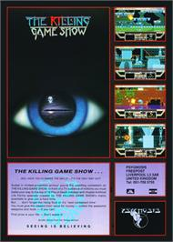Advert for Killing Game Show on the Commodore Amiga.