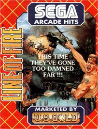 Advert for Line of Fire / Bakudan Yarou on the Commodore Amiga.
