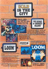 Advert for Loom on the ScummVM.