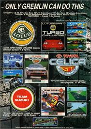 Advert for Lotus Esprit Turbo Challenge on the Commodore Amiga.