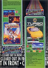 Advert for Lotus Turbo Challenge 2 on the Sega Genesis.