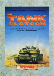 Advert for M1 Tank Platoon on the Commodore Amiga.