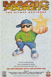 Advert for Magic Pockets on the Commodore Amiga.