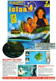 Advert for Maupiti Island on the Commodore Amiga.