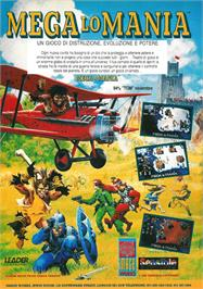 Advert for Mega lo Mania on the Sega Nomad.
