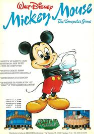Advert for Mickey Mouse: The Computer Game on the Commodore Amiga.