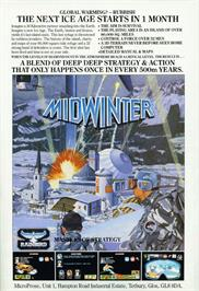 Advert for Midwinter on the Microsoft DOS.