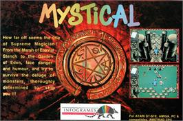 Advert for Mystical on the Amstrad GX4000.