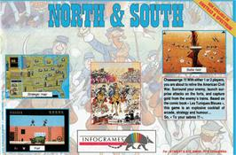 Advert for North & South on the Amstrad CPC.