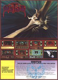 Advert for Obitus on the Nintendo SNES.