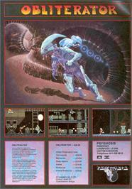 Advert for Obliterator on the Atari ST.