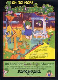 Advert for Oh No More Lemmings on the Atari ST.