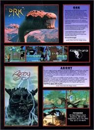 Advert for Ork on the Atari ST.