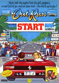 Advert for Out Run on the Atari ST.