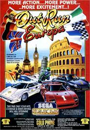 Advert for Out Run Europa on the Amstrad CPC.