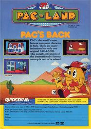 Advert for Pac-Land on the Atari ST.