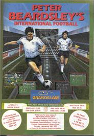 Advert for Peter Beardsley's International Football on the Commodore 64.