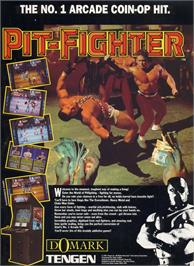 Advert for Pit Fighter on the Nintendo Game Boy.