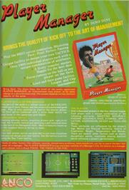 Advert for Player Manager on the Commodore Amiga.