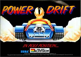 Advert for Power Drift on the Commodore Amiga.