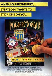 Advert for Powermonger: World War 1 Edition on the Commodore Amiga.