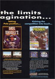 Advert for Premier Manager on the Atari ST.