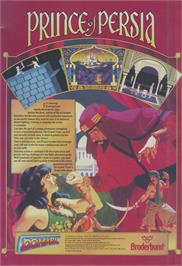 Advert for Prince of Persia on the Commodore Amiga.
