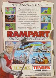 Advert for Rampart on the Atari ST.