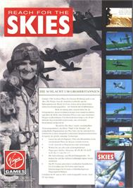Advert for Reach for the Skies on the Atari ST.