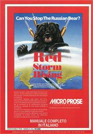 Advert for Red Storm Rising on the Atari ST.