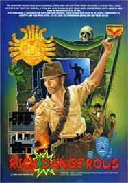 Advert for Rick Dangerous on the Atari ST.