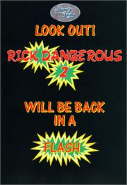 Advert for Rick Dangerous 2 on the Commodore Amiga.