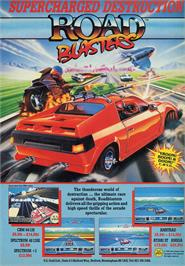 Advert for Road Blasters on the Atari ST.