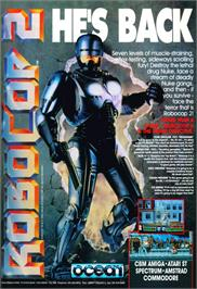 Advert for Robocop 2 on the Atari ST.