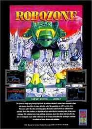 Advert for Robozone on the Commodore Amiga.