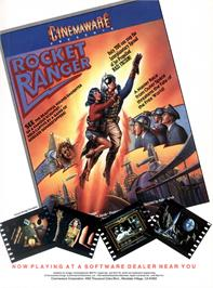 Advert for Rocket Ranger on the Commodore Amiga.