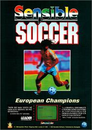 Advert for Sensible Soccer: European Champions on the Commodore Amiga.