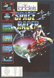 Advert for Space Racer on the Amstrad CPC.